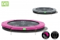 Preview: Trampolin EXIT Twist Ground 244 cm Rosa/Grau