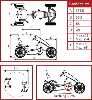 BERG Gokart RACE BFR mit Side Skirts white