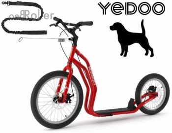 YEDOO MEZEQ Disc Dog-Scooter SPEZIAL rot