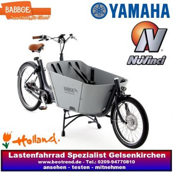 Babboe City Mountain DISC-Bremsen e-bike grau
