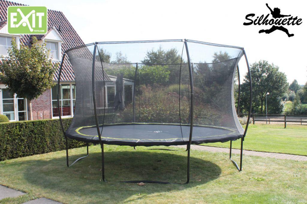 beotrend silhouette mit sicherheitsnetz 305 cm trampolin. Black Bedroom Furniture Sets. Home Design Ideas