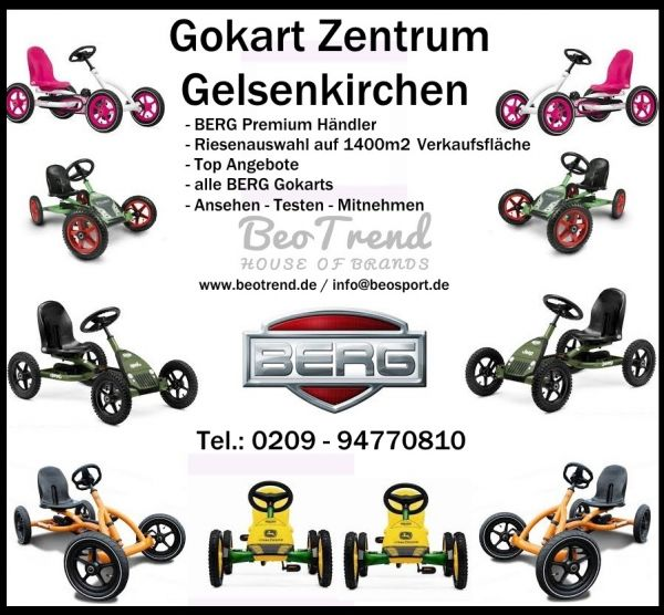 BERG Gokart RACE BFR-3 mit Side Skirts white
